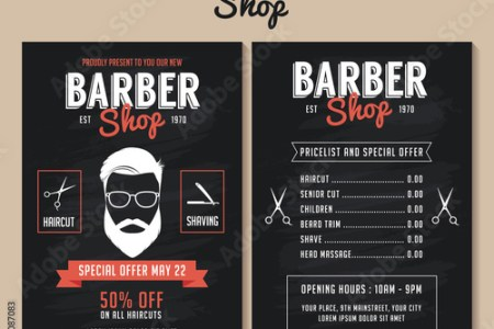 Barber shop flyer template  Price list and special offer   Buy this     Barber shop flyer template  Price list and special offer