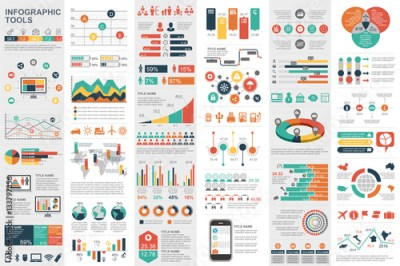 Infographic elements data visualization vector - Buy this ...