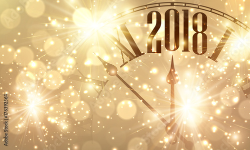 2018 New Year banner with clock    Buy this stock vector and explore     2018 New Year banner with clock