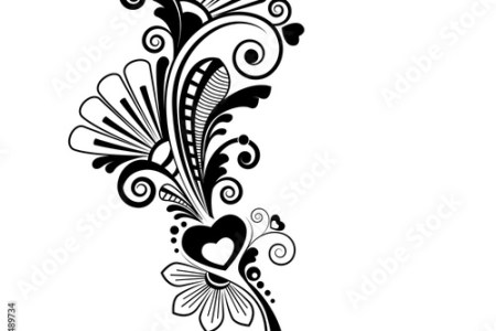 Flower design background black and white path decorations pictures flower design on black background royalty free stock image storyblocks flower design on black background flower vector ornament background stock vector mightylinksfo