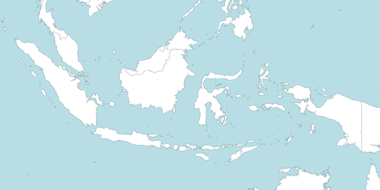 6 free maps of Indonesia   ASEAN UP Large Indonesia blank map with countries borders