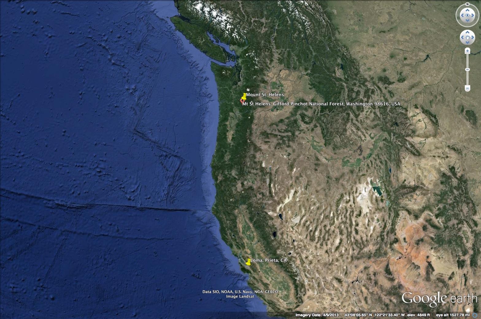 Prieta Earthquake Shaking intensity map Q