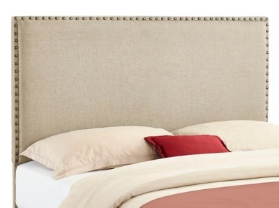 Headboards   Ashley Furniture HomeStore Contempo Full Queen Upholstered Headboard  Natural