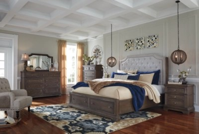 Mikalene Queen Panel Bed With Storage Ashley Furniture