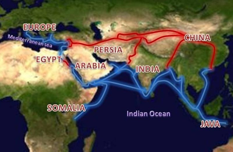 Age Africa Middle Trade Route Through