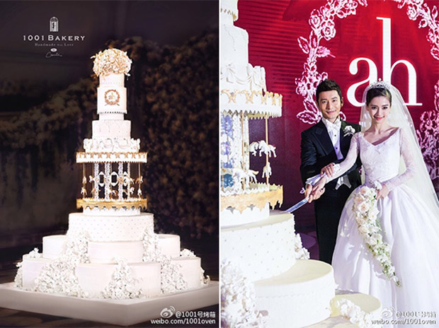 8 Mind Blowing Celebrity Wedding Cakes for Some Major  Cakespiration     Celebrity Wedding Cakes for Major Cakespiration Angelababy 1