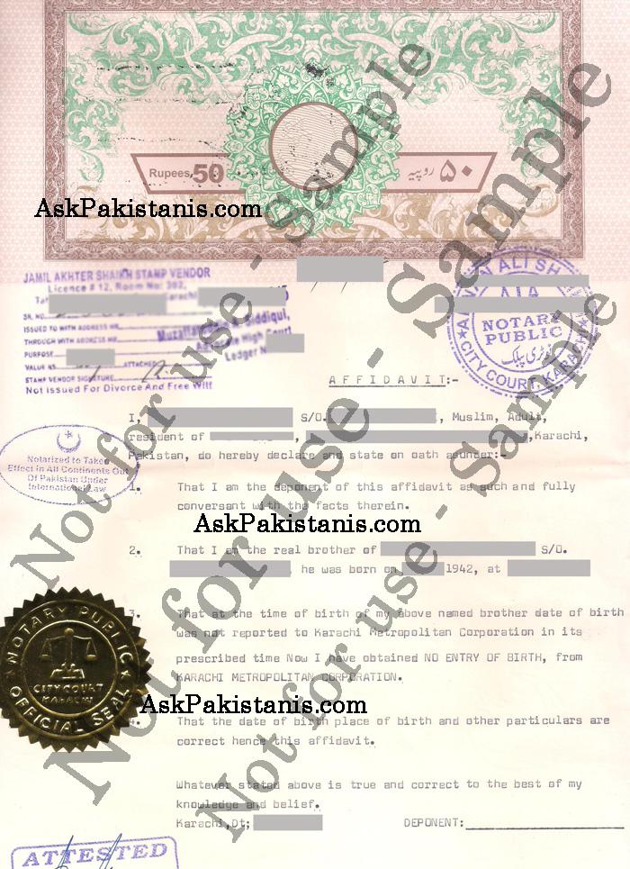 Birth certificate affidavit sample yadclub Image collections