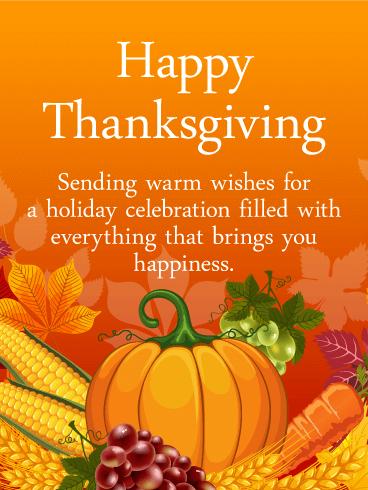 Heartfelt Happy Thanksgiving Card Birthday Amp Greeting