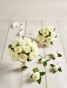 Wedding Flowers   Wedding   Bridal Bouquets Ideas   M S Quick look      The Collection White Rose   Wedding Party Package