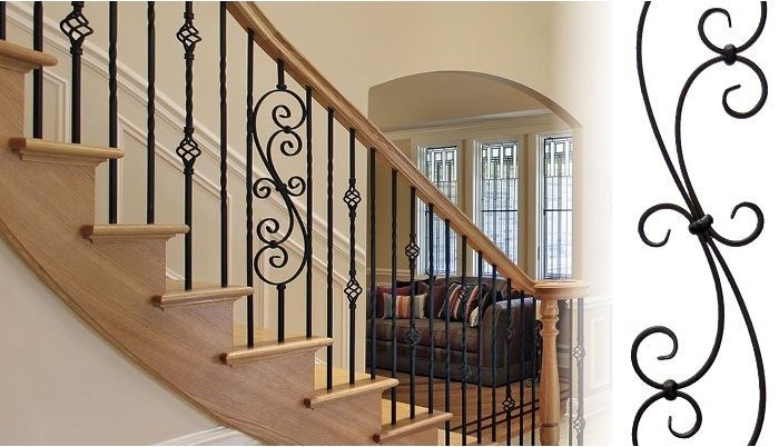 Powder Coated Wrought Iron Balusters Outwater | Powder Coated Handrails For Stairs | Ornamental Iron | Metal | Deck Railing | Wrought Iron Balusters | Balcony