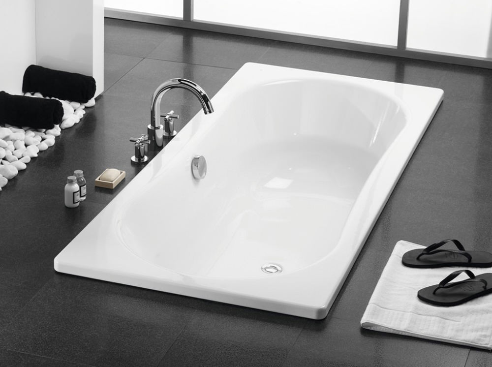 Roca Duo Plus Double Ended Bath 1800 X 800mm With Anti
