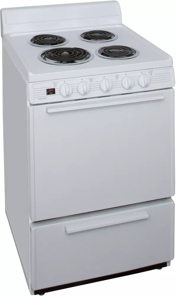 24 Inch Electric Range White
