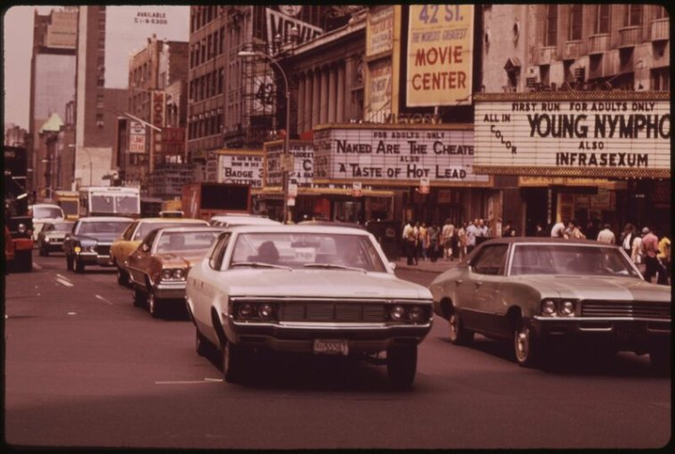 The Little Death of the Adult Movie Theater   Atlas Obscura New York s Times Square was home to a number of these adult movie theaters   many