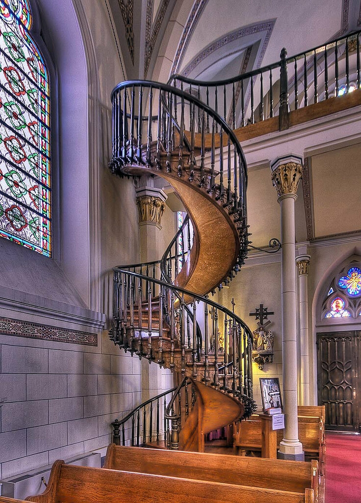 Spiraling Out Of Control The Greatest Spiral Stairs In The World | Spiral Staircase Loretto Chapel | St Joseph | Immaculate | Gothic | Dangerous | Medieval