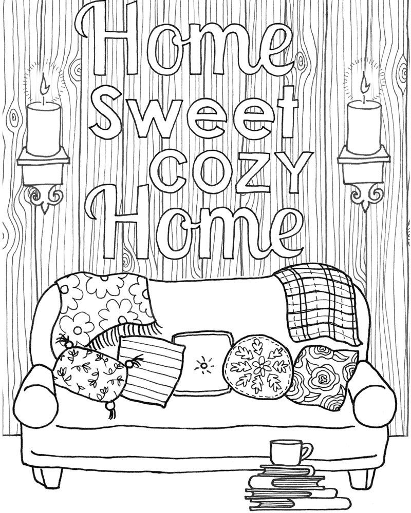 New Hygge A Book To Enjoy Amp Color For A Cozy Simple