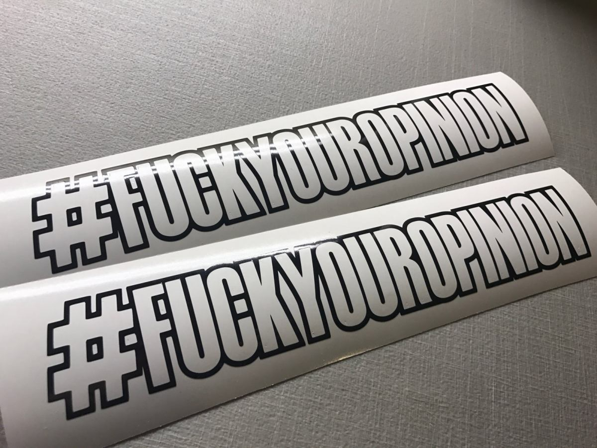 Locally Hated Fuckyouropinion Decal 12 Quot