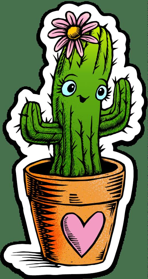 Cute Cactus Sticker Noosh Studios