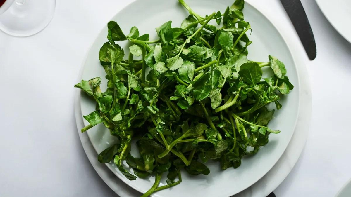 Watercress Salad With Mustard Vinaigrette Recipe Bon Appetit