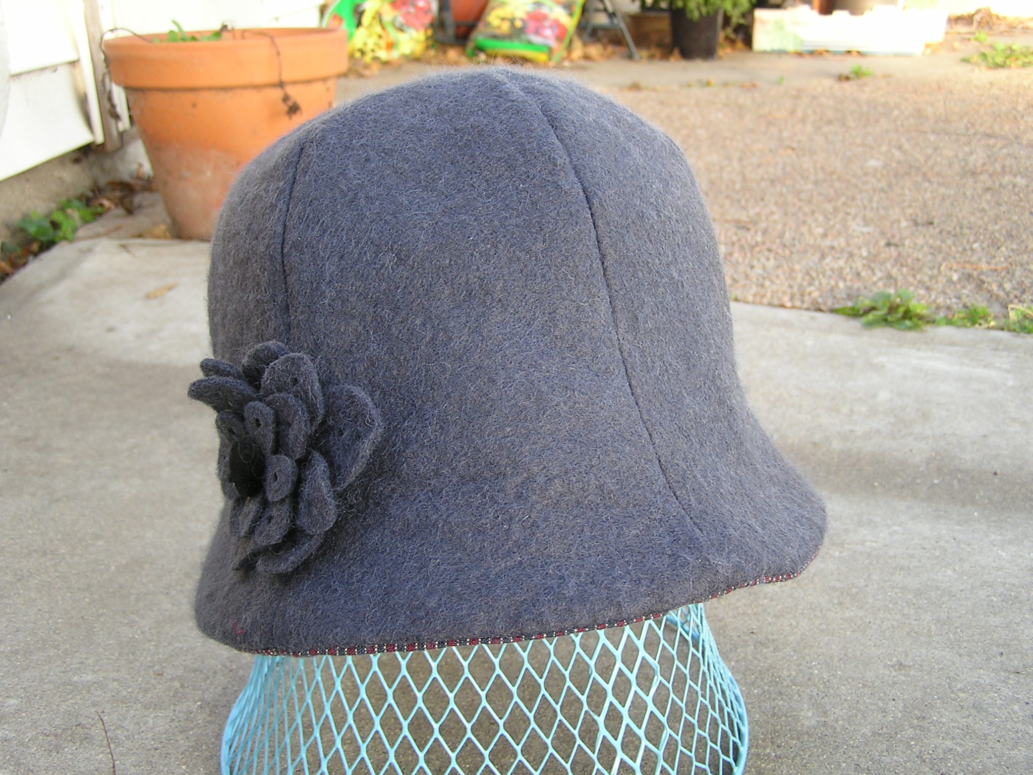 Cloche Fleece Hat Pattern