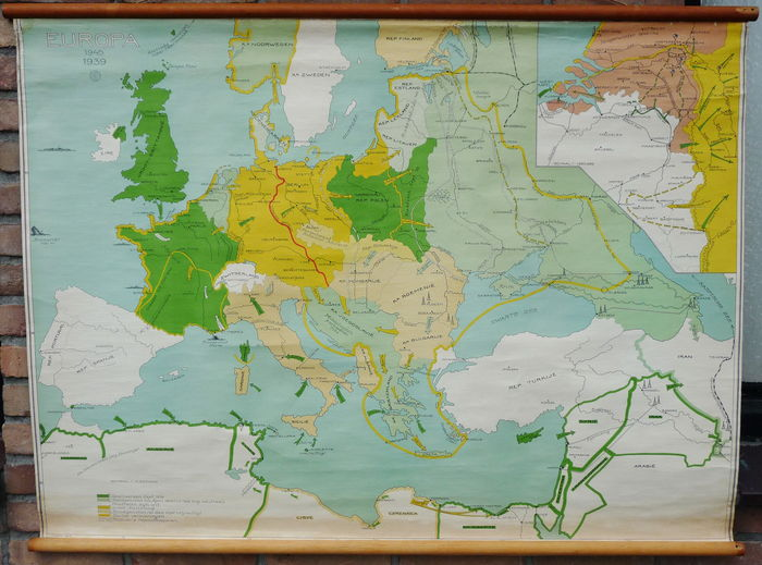 Old school map on  Europe during the second world war  1939 1945     Old school map on  Europe during the second world war  1939 1945