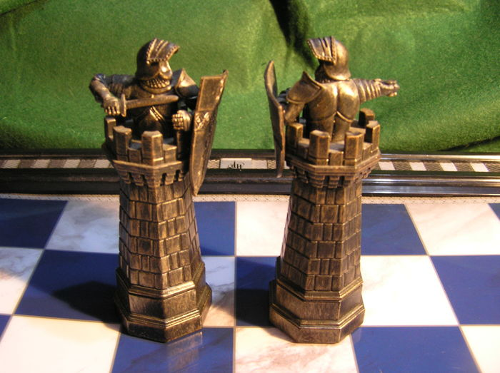 Two complete Harry Potter chess sets  the dragon edition and Harry     Two complete Harry Potter chess sets  the dragon edition and Harry Potter  edition