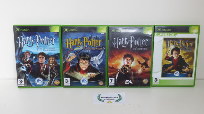 XBOX Classic with controller and 20 games including Harry Potter     XBOX Classic with controller and 20 games including Harry Potter collection