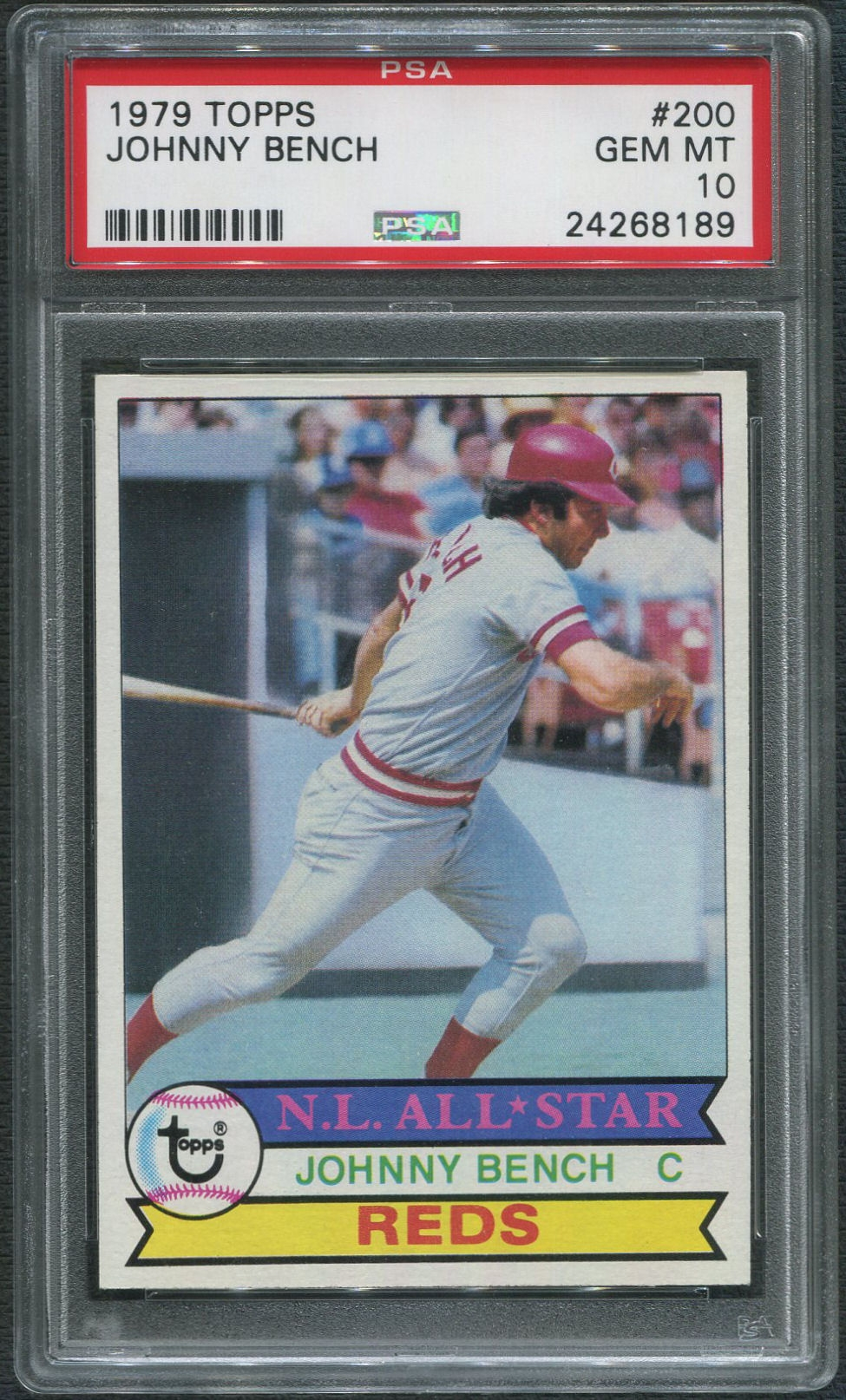 1979 Topps Baseball 200 Johnny Bench Psa 10 Gem Mt Da
