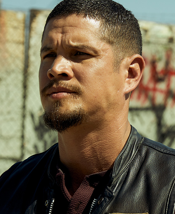 JD Pardo as Ezekiel  EZ  Reyes   Mayans MC   FX JD Pardo stars as    Ezekiel  EZ  Reyes     a prospect in the Mayans M C    Santo Padre  EZ is the gifted son of a proud Latino family  whose American  dream was