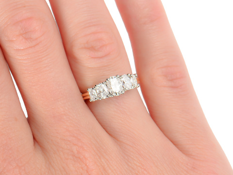 Fine Cartier Diamond Engagement Ring