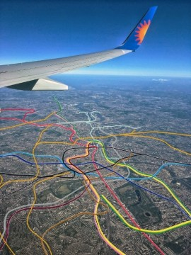 The Tube Map    As Seen From A Plane   Londonist The Tube Map    As Seen From A Plane