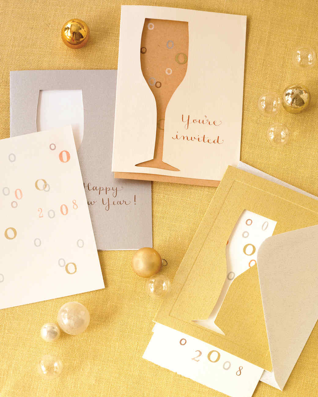 Clip Art and Templates for New Year s   Martha Stewart Invitations That Pop