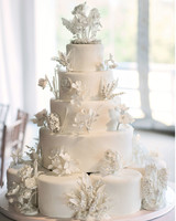 32 Amazing Wedding Cakes You Have to See to Believe   Martha Stewart     white cake with sugar flowers