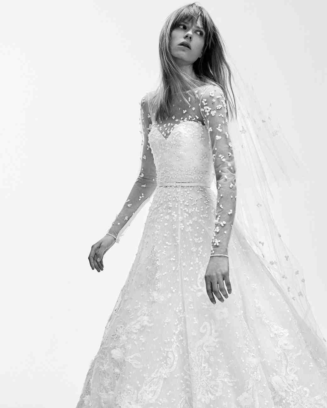 a0cabcdddf Elie Saab Spring 2017 Wedding Dress Collection Martha Stewart Weddings