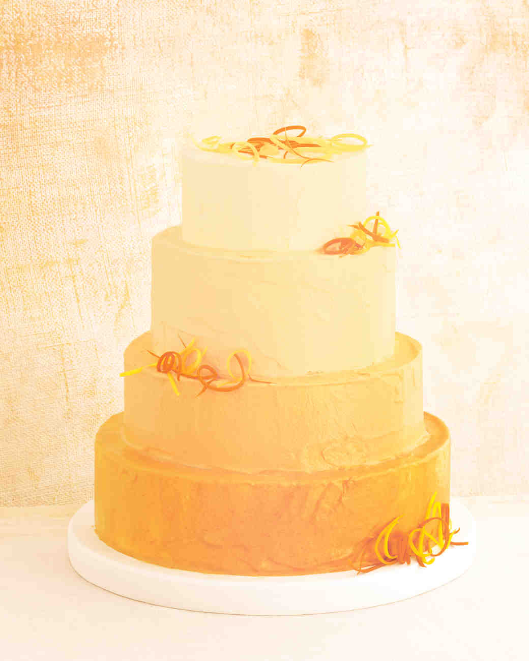 Martha Stewart Yellow Wedding Cake