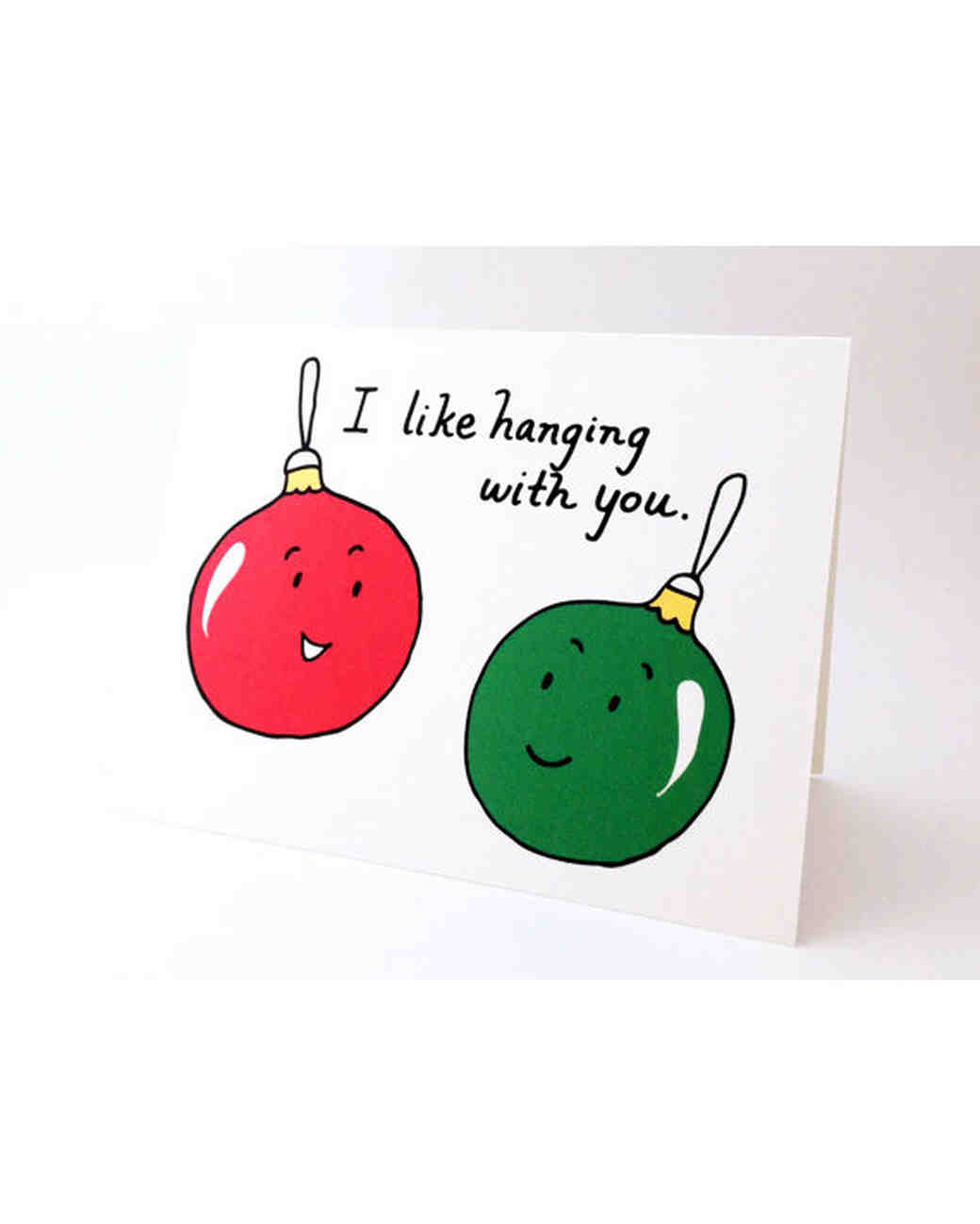 Cute Holiday Cards for Every Couple   Martha Stewart Weddings