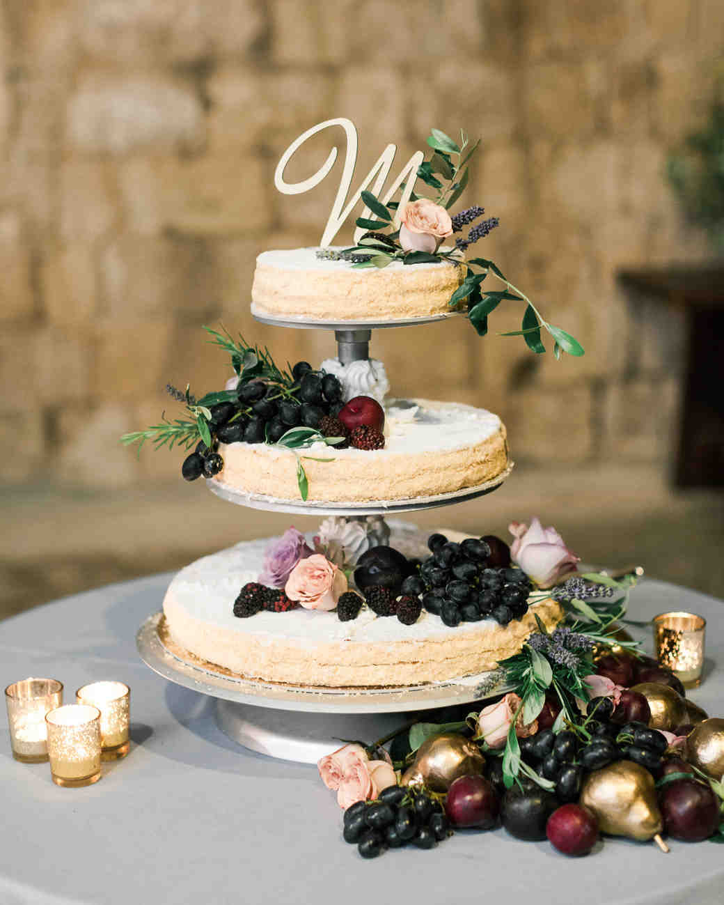 42 Fruit Wedding Cakes That Are Full of Color  and Flavor     Martha     Wedding Cake Overflowing with Fruit