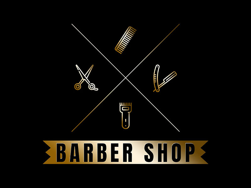 barber logo template - 800×600