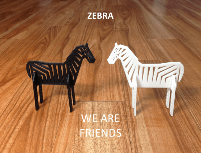 3d Printed Simple Animals 8 Zebra By Eunny Pinshape