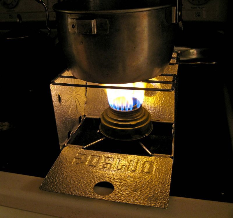 Stove Backpacking Sterno