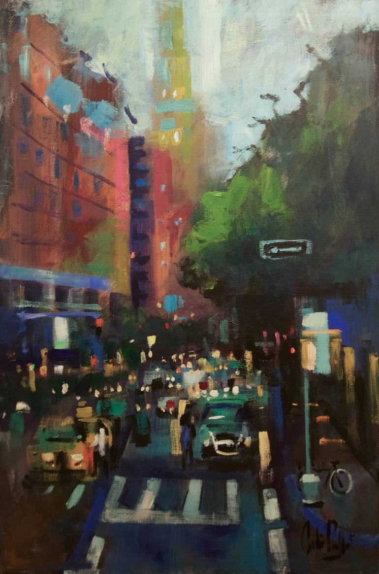 Saatchi Art  Traffic NYC Painting by Andre Pallat Saatchi Art Artist Andre Pallat  Painting     Traffic NYC     art