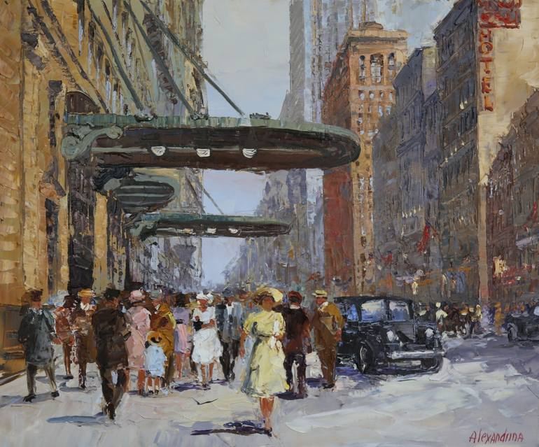 Saatchi Art  West 34th Street  NYC Painting by Irina Alexandrina Saatchi Art Artist Irina Alexandrina  Painting     West 34th Street  NYC