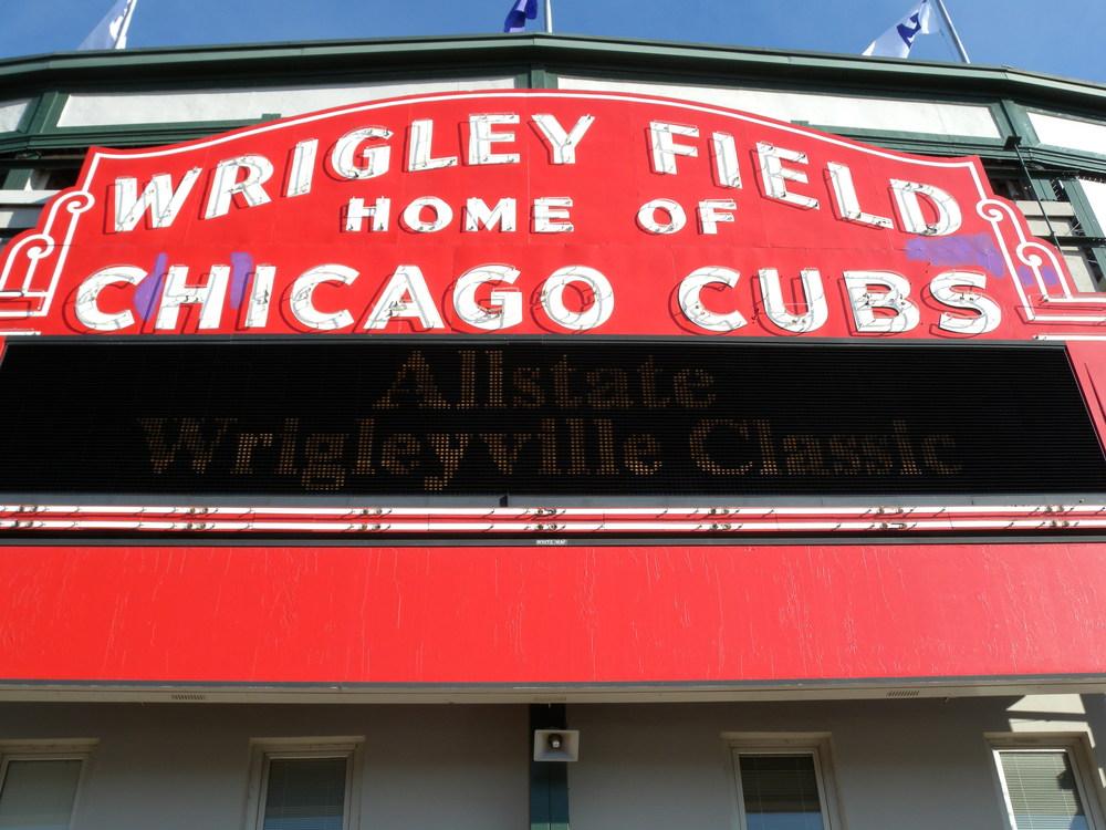Wrigley Board Left Field Field