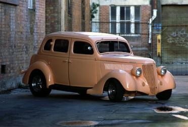 1936 Ford Hot Rod Humpback 4 Door All Steel Sedan Groova Shannons Club