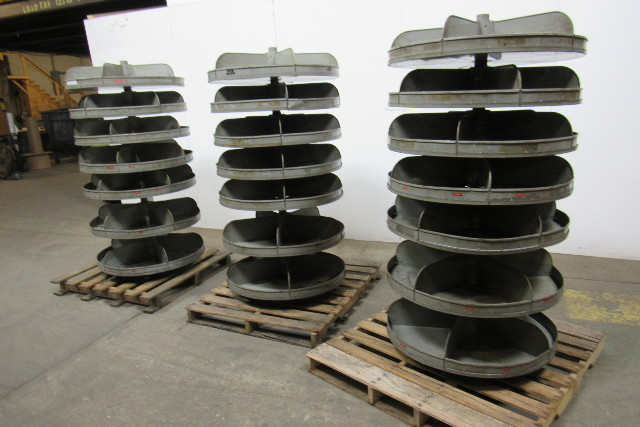 Lyons Lot Of 3 34 Quot Dia 7 Tray 5 Compartment Rotary Parts
