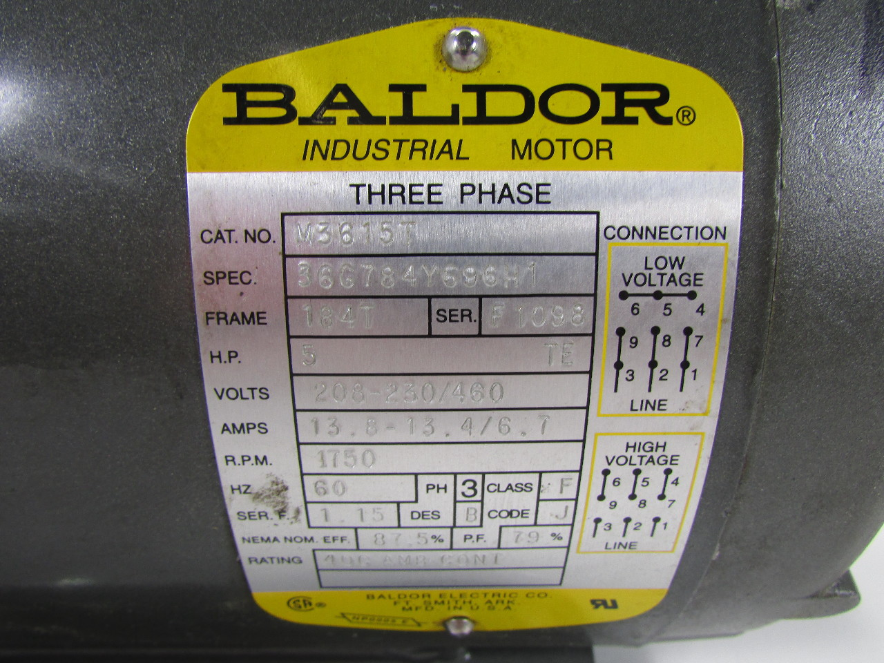Baldor Reliance Motor Wiring Diagram 230 460