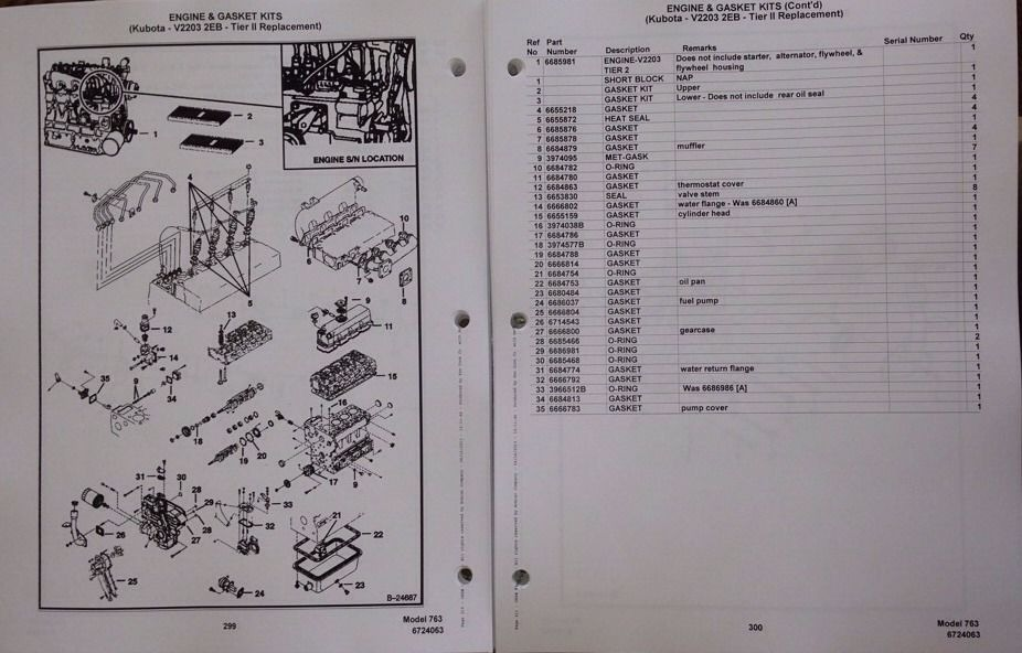 Hydraulic Diagram Parts Bobcat 763