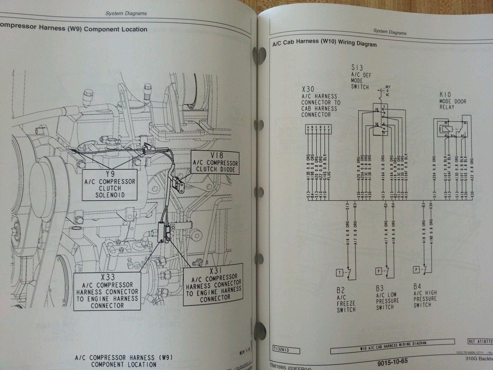 sd424282558 john deere jd 310g backhoe loader service technical operation test manual tm1885 4 case 310 hydraulic diagram