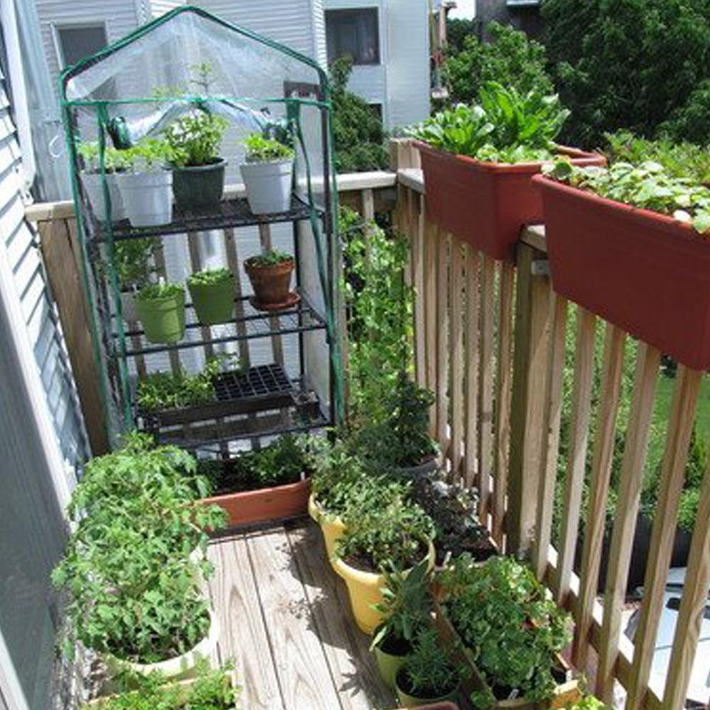 Homemade Mini Greenhouse Deck