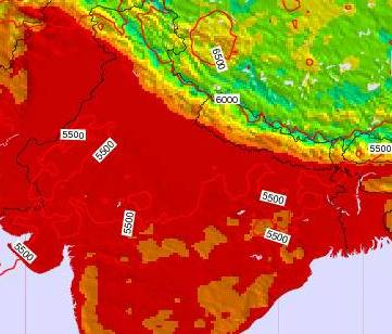 HD Decor Images » India Surface Temperature on Thursday 11 Oct at 11 30am IST India Surface Temperature on Thursday 11 Oct at 11 30am IST map