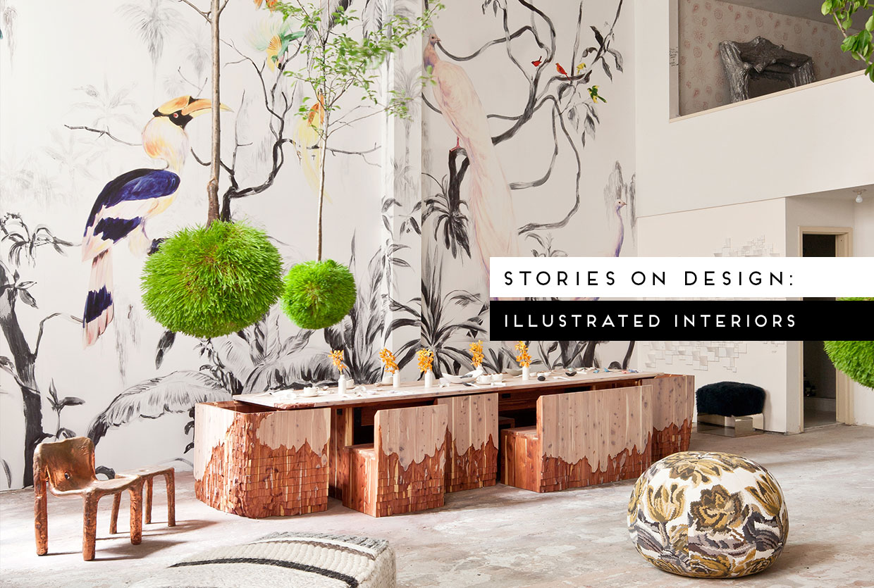Stories On Design by Yellowtrace  Illustrated Interiors  Illustrated Interiors Curated by Yellowtrace